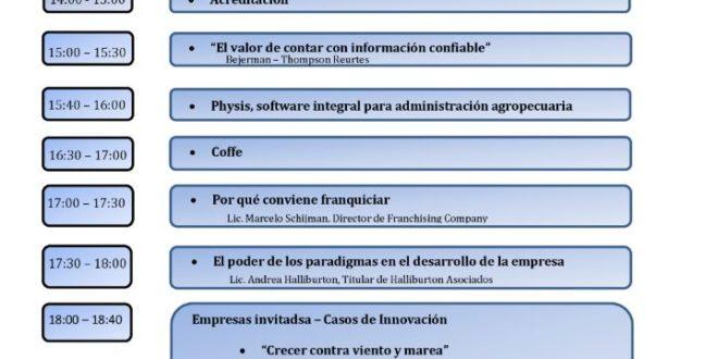 JORNADA PyME – PROFESIONALIZANDO TU EMPRESA, se llevará a cabo el VIERNES 1 DE DICIEMBRE en el CENTRO PROVINCIAL DE CONVENCIONES.