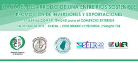 Taller de Competitividad para el Comercio Exterior de Entre Ríos.